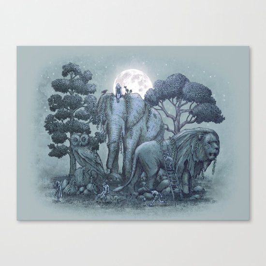 Midnight in the Stone Garden (colour option) Canvas Print