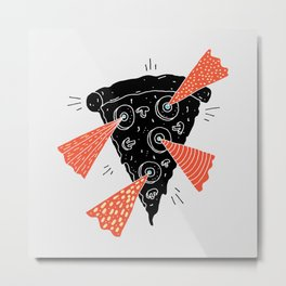 Lazer Pizza Metal Print