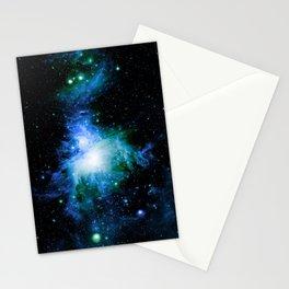 Orion Nebula Blue Green Stationery Cards