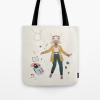 taurus Tote Bags featuring Taurus by LordofMasks