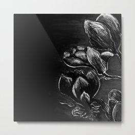Magnolia in black Metal Print