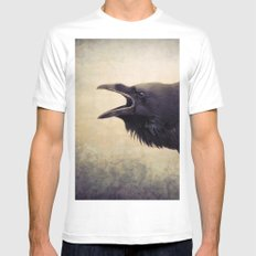The Raven Mens Fitted Tee MEDIUM White