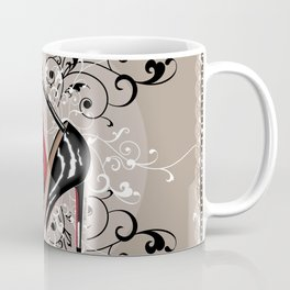 Red Bottom shoes with delicate lace Coffee Mug