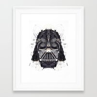 darth vader Framed Art Prints featuring darth vader by yoaz