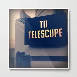 To The Telescope Metal Print