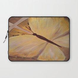 Butterfly Cross Easter Laptop Sleeve