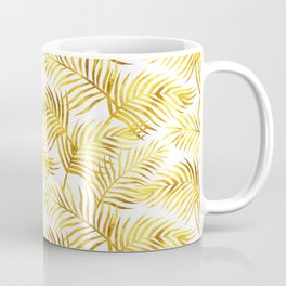 Palm Leaves_Gold and White Coffee Mug