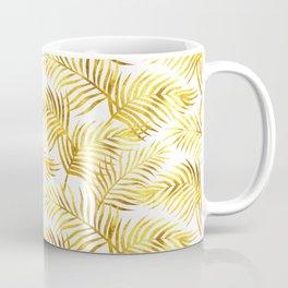 Palm Leaves_Gold and White Coffee Mug