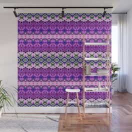 Dainty Purple Banded Lace Wall Mural