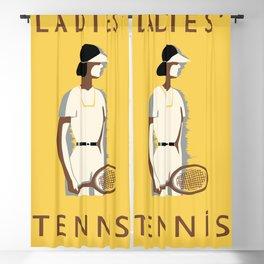 Ladies Tennis retro style Blackout Curtain