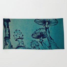 Mushroom Garden Beach Towel