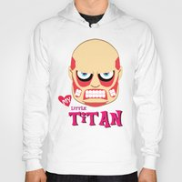 attack on titan Hoodies featuring My Little Titan by TheBeardedPen