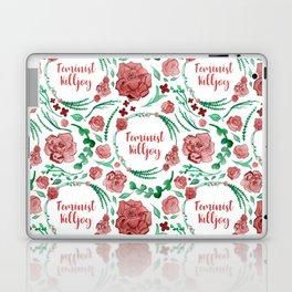 Feminist Killjoy - A Floral Pattern Laptop & iPad Skin