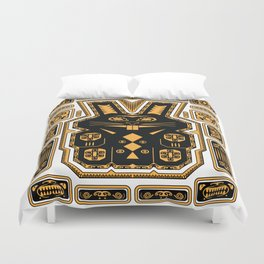 Tiki Rabbit Duvet Cover