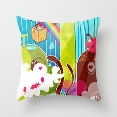 The Great Pineapple Race Throw Pillow