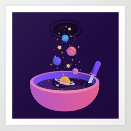 Macrocosmic Cereal Art Print
