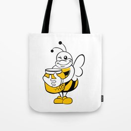 Bee with honey pot. Tote Bag