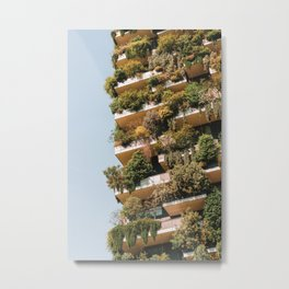 Modern Sustainable Architecture, Bosco Verticale, Vertical Forest, Milan Towers, Milano Italy, Trees Shrubs Floral Plants, Travel Print Metal Print