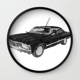 '67 Chevy Impala (w/o background) Wall Clock