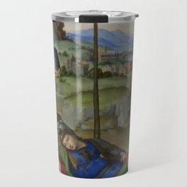 """Raffaello Sanzio da Urbino """"Vision of a Knight (The Dream of Scipio or Allegory)"""", circa 1504-1505 Travel Mug"""