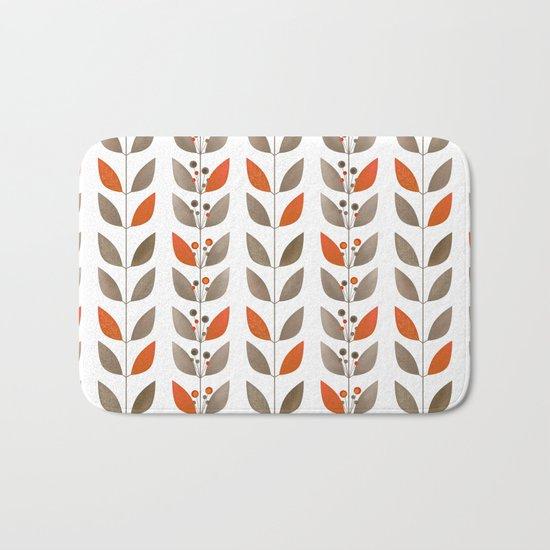 Retro pattern . Autumn leaves . Bath Mat