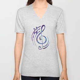 Iridescent Fantasy Abstract Unisex V-Neck