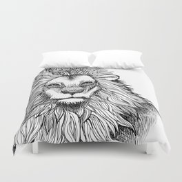 Lion Black&White Duvet Cover