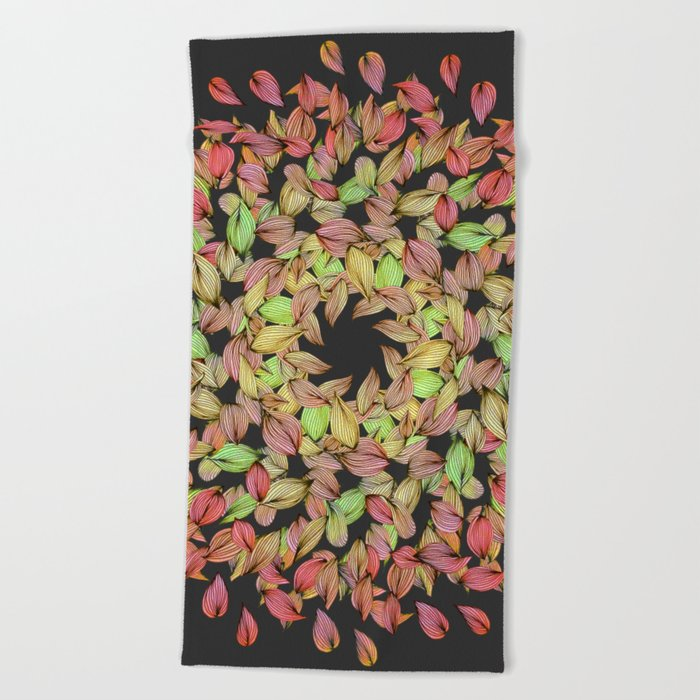 Autumn Mandala Beach Towel