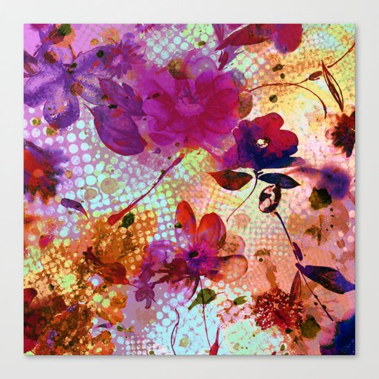 flowers and light Canvas Print