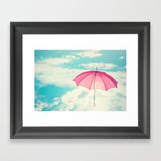 Raining Hearts Framed Art Print