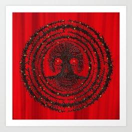 romkaláh lights gallery mandala Art Print