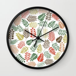 Colorful branches 1 Wall Clock