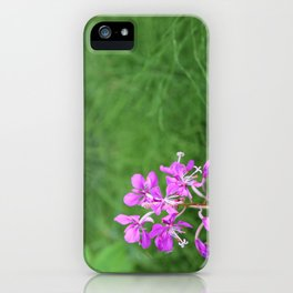 Fireweed Wildflower iPhone Case