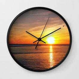 Pastel sunset over Chesapeake Bay Wall Clock