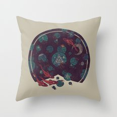 Amongst the Lilypads Throw Pillow