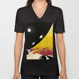 Sophisticated French Art Deco Woman Unisex V-Neck