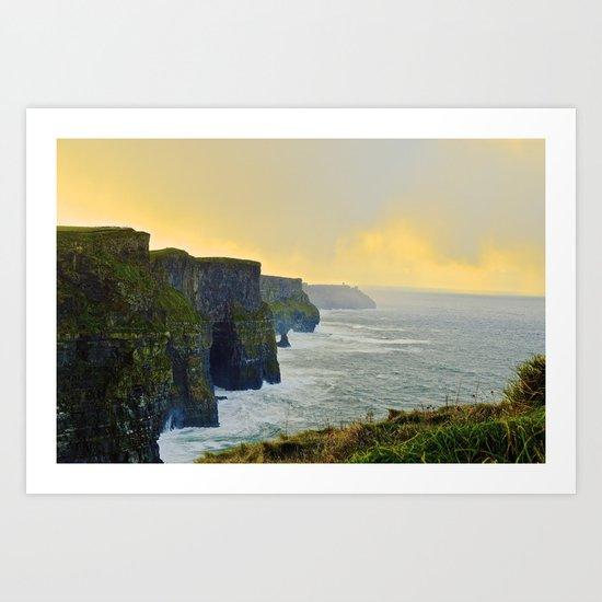 Cliffs of Moher Morning Art Print