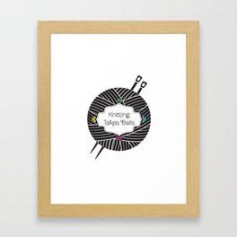 Knitting Takes Balls Framed Art Print