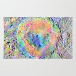 Iridescent Rainbow Moon Surface Rug