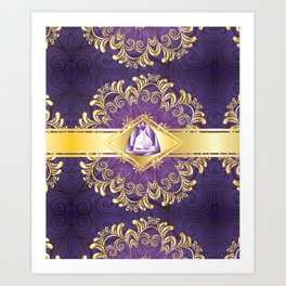 Decorative Background with Amethyst Art Print