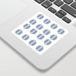 TROPICAL PALMS . WHITE + BLUE Sticker