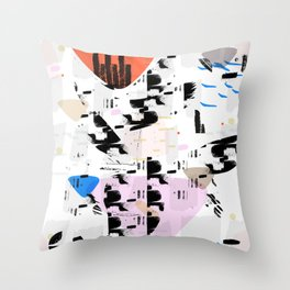 Between the coast and the ocean Throw Pillow