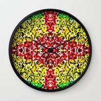 cross Wall Clocks featuring Cross by Bruce Stanfield