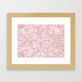 Isola Signature Print Dusty Pink  Framed Art Print