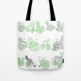 Old wheelchairs Tote Bag