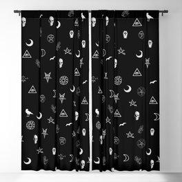 Goth Symbols Pattern Blackout Curtain