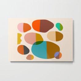 Abstraction_Pebbles_Colour_Minimalism_001 Metal Print
