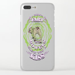 Bulldog Fart - Bowels Blew A Kiss -Funny Meme Clever Clear iPhone Case