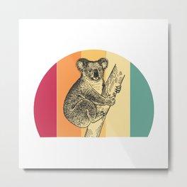 Koala Retro Metal Print