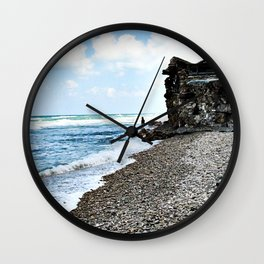 Seaside photography - beach Photography - Sea Nautical Ocean Wall Clock